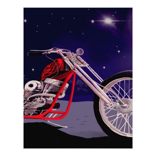 Motorcycle Moonlight Art Letterhead