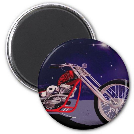 Motorcycle Moonlight Art Magnet