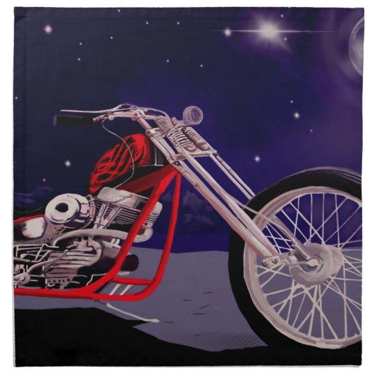 Motorcycle Moonlight Art Napkin