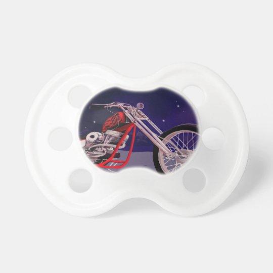 Motorcycle Moonlight Art Pacifier