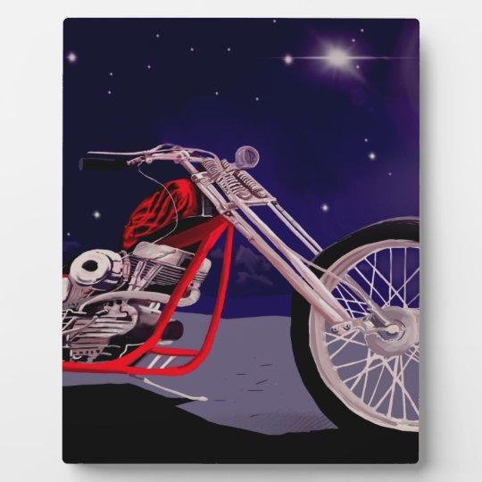 Motorcycle Moonlight Art Plaque