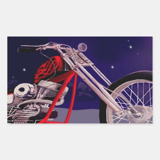 Motorcycle Moonlight Art Sticker