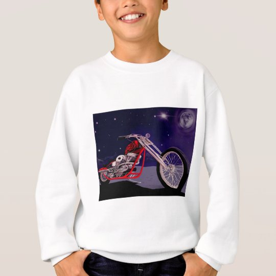 Motorcycle Moonlight Art Sweatshirt