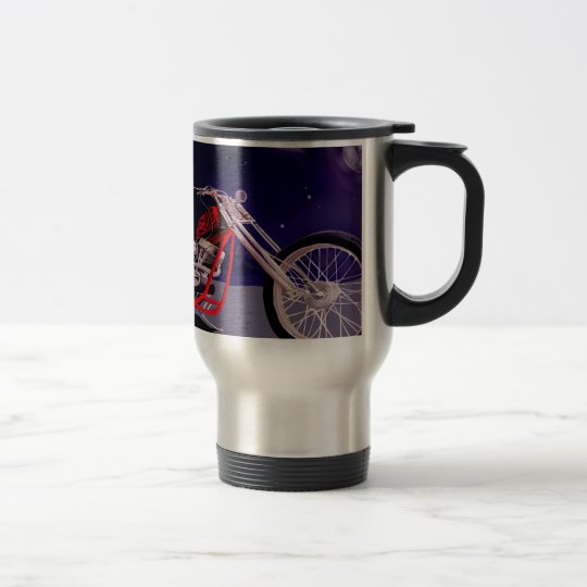 Motorcycle Moonlight Art Travel Mug
