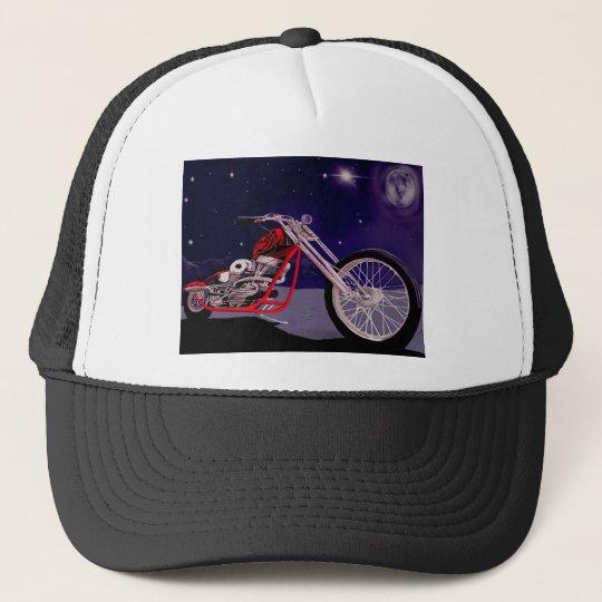 Motorcycle Moonlight Art Trucker Hat