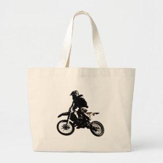 Motorcycle Motocross Large Tote Bag