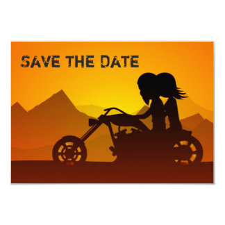 Motorcycle Mountains Save the Date Wedding Invite