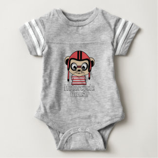 Motorcycle Mouse, rate cartoon vintage design Baby Bodysuit