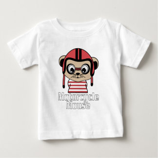 Motorcycle Mouse, rate cartoon vintage design Baby T-Shirt