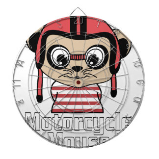 Motorcycle Mouse, rate cartoon vintage design Dartboard