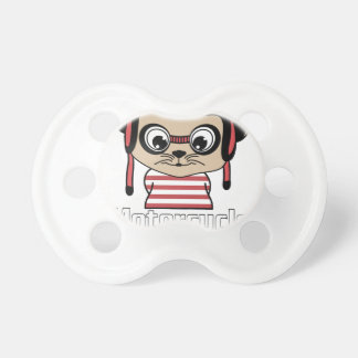 Motorcycle Mouse, rate cartoon vintage design Pacifiers