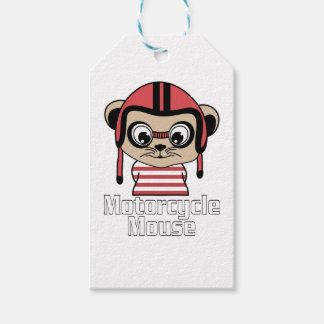 Motorcycle Mouse, rate cartoon vintage design Pack Of Gift Tags