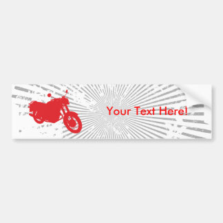 Motorcycle: Outline Profile: Bumper Sticker