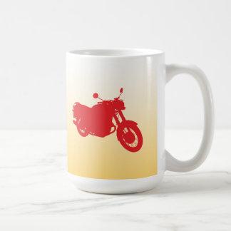 Motorcycle: Outline Profile: Coffee Mug