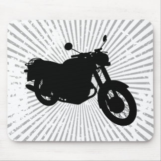 Motorcycle: Outline Profile: Custom Mousepad