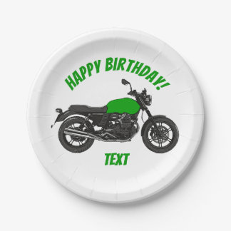 Motorcycle Paper Plate