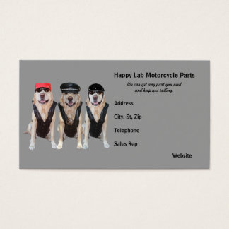Motorcycle Parts Business Card