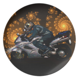 Motorcycle Power Biker Transport Gift Plate