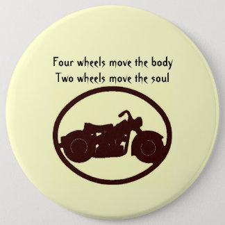 Motorcycle quote 6 inch round button