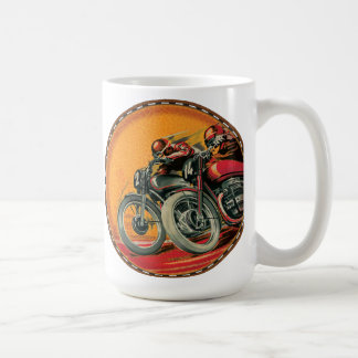 Motorcycle Racers Classic White Coffee Mug