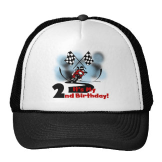 Motorcycle Racing 2nd Birthday Tshirts and Gifts Trucker Hat