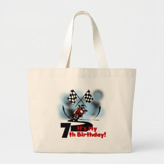 Motorcycle Racing 7th Birthday Canvas Bag