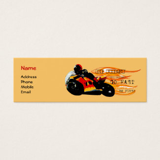 Motorcycle Racing Mini Business Card