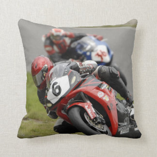 Motorcycle racing pillow