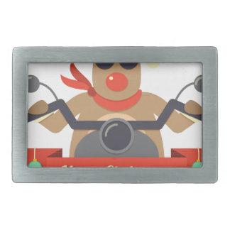 motorcycle  reindeer rectangular belt buckles