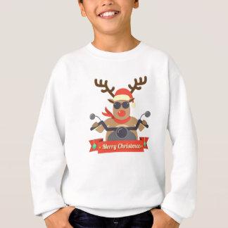 motorcycle  reindeer sweatshirt