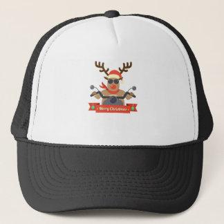 motorcycle  reindeer trucker hat