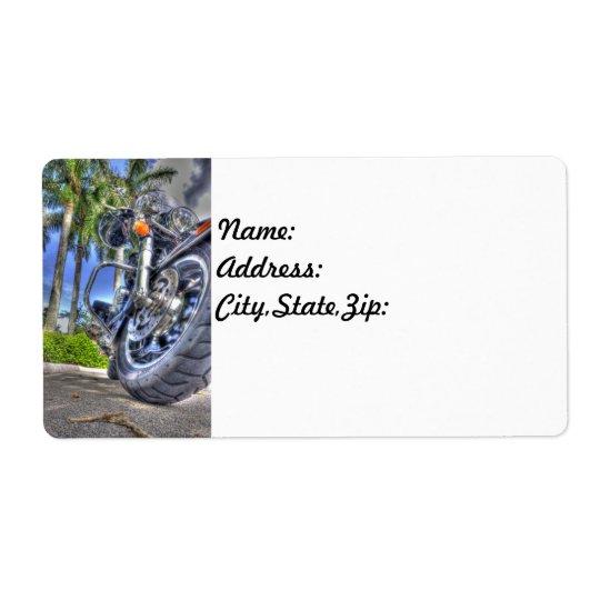 Motorcycle Return Address Labels