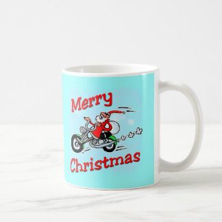 Motorcycle Santa Mug
