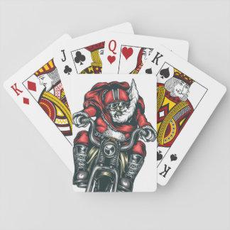 Motorcycle Santa Playing Cards