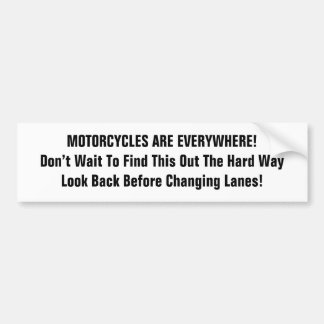 Motorcycle series bumper sticker