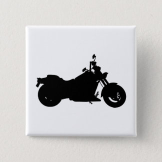 Motorcycle Silhouette 2 Inch Square Button