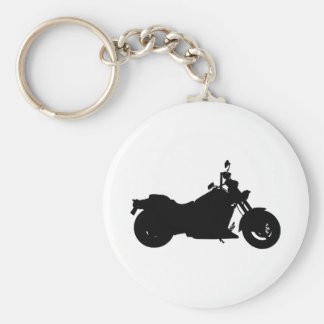 Motorcycle Silhouette Keychain