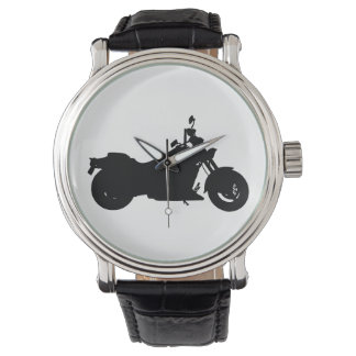 Motorcycle Silhouette Watch