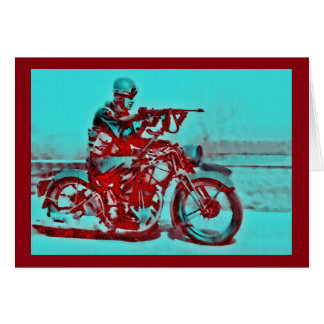 Motorcycle Soldier WWI-WWII Card
