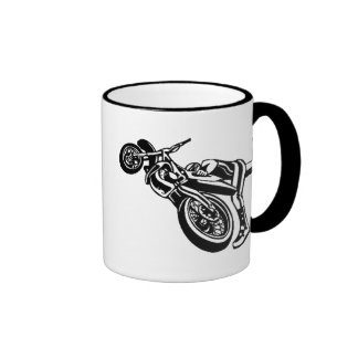 Motorcycle Stunt Ringer Mug