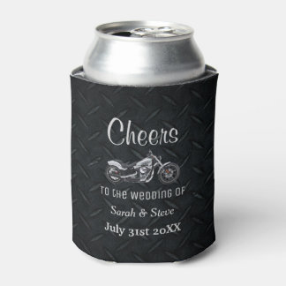 Motorcycle Themed Wedding Date Favors Can Cooler