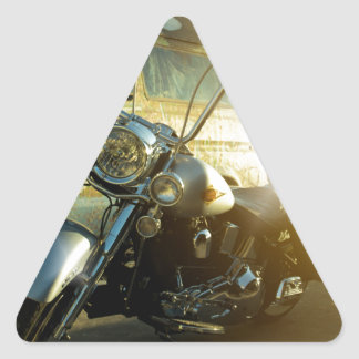 motorcycle triangle sticker