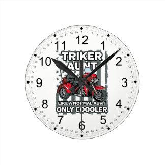 Motorcycle Triker Aunt Round Clock