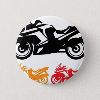 Motorcycle vector 2 inch round button