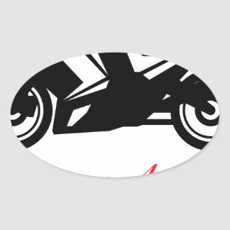 Motorcycle vector oval sticker
