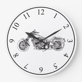 Motorcycle Wallclock
