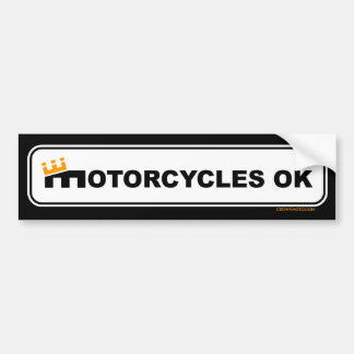 'Motorcycles OK' Bumper Sticker