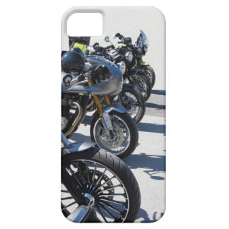 Motorcycles parked in row on asphalt case for the iPhone 5