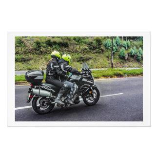 Motorcycles Riders at Avenue Photo Print
