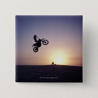 Motorcyclist 2 Inch Square Button